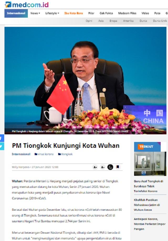 [Cek Fakta] Virus Korona Sengaja Disebarkan Rezim Tiongkok untuk Membasmi Umat Islam di Wuhan? Ini Faktanya