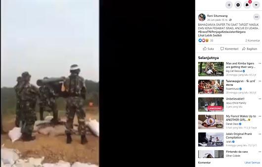 [Cek Fakta] TNI Tembak Jatuh Pesawat Israel Hoaks, Ini Faktanya
