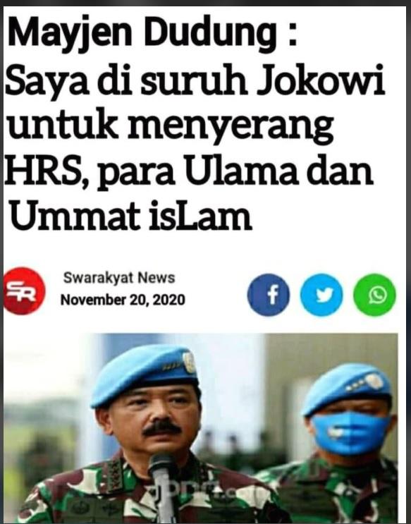 [Cek fakta] Pangdam Jaya Mengaku Diperintah Jokowi untuk Menyerang Ulama? Ini Faktanya