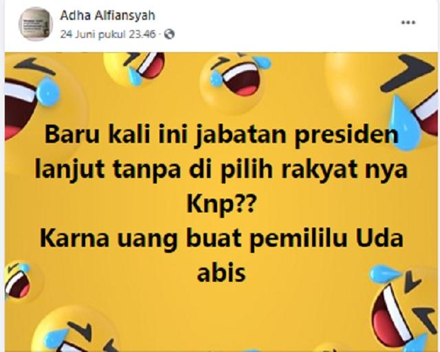 [Cek Fakta] Kini Masa Jabatan Presiden Ditetapkan tanpa Harus Pemilu? Ini Faktanya