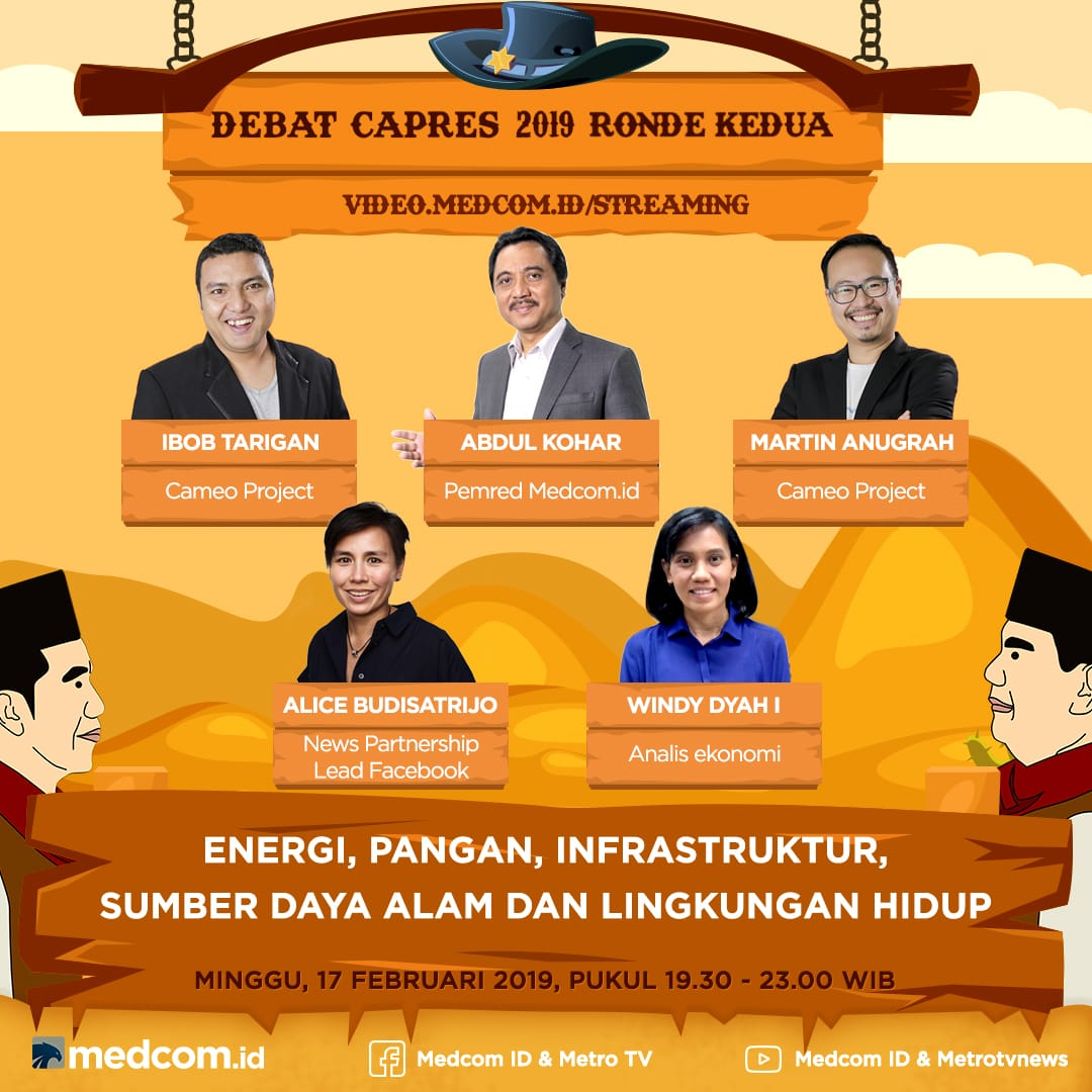 Saksikan Debat Capres Ronde Kedua Jokowi Vs Prabowo di Medcom.id
