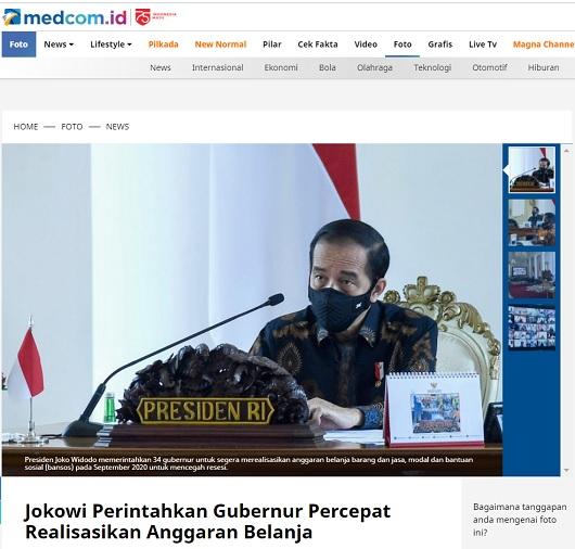 [Cek Fakta] Jokowi Minta Semua Gubernur Tiru Kerja Keras Anies Baswedan? Ini Faktanya