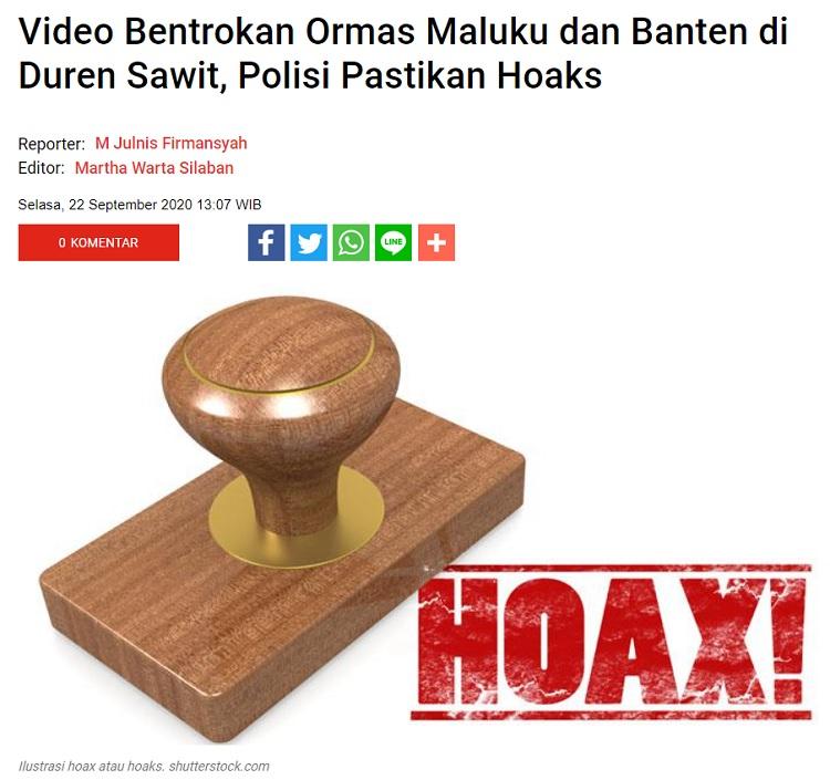 [Cek Fakta] Viral Video Bentrokan Ormas BPPKB Banten vs Ambon? Ini Faktanya
