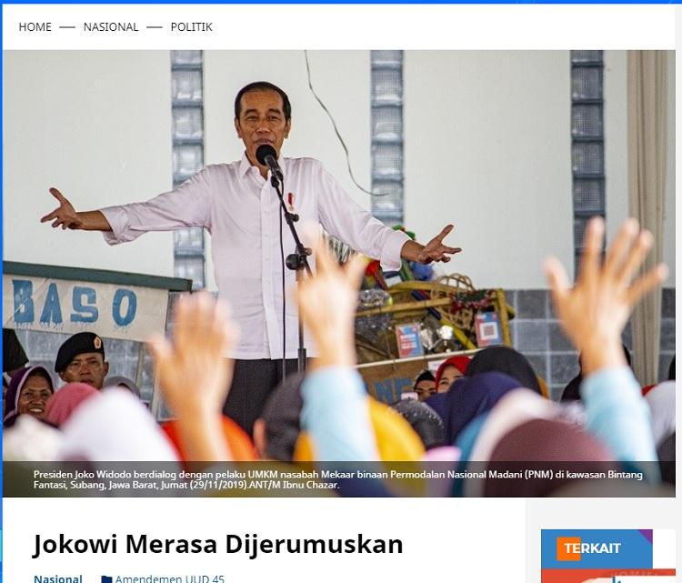 [Cek Fakta] Amendemen Kelima UUD 1945 Jokowi akan Jabat 3 Periode? Ini Faktanya