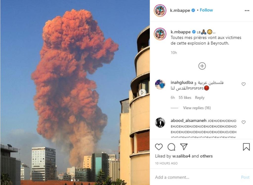 Ledakan di Lebanon, Salah dan Mbappe Ikut Berduka