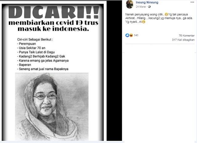 [Cek Fakta] Ketum PDIP Megawati Masuk DPO karena Membiarkan Virus Korona Masuk Indonesia? Ini Faktanya