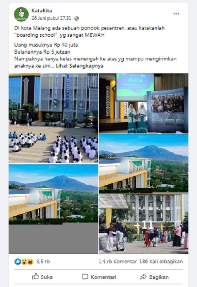 [Cek Fakta] Pondok Pesantren di Malang Ini tak Punya Foto Bendera Merah Putih? Simak Faktanya