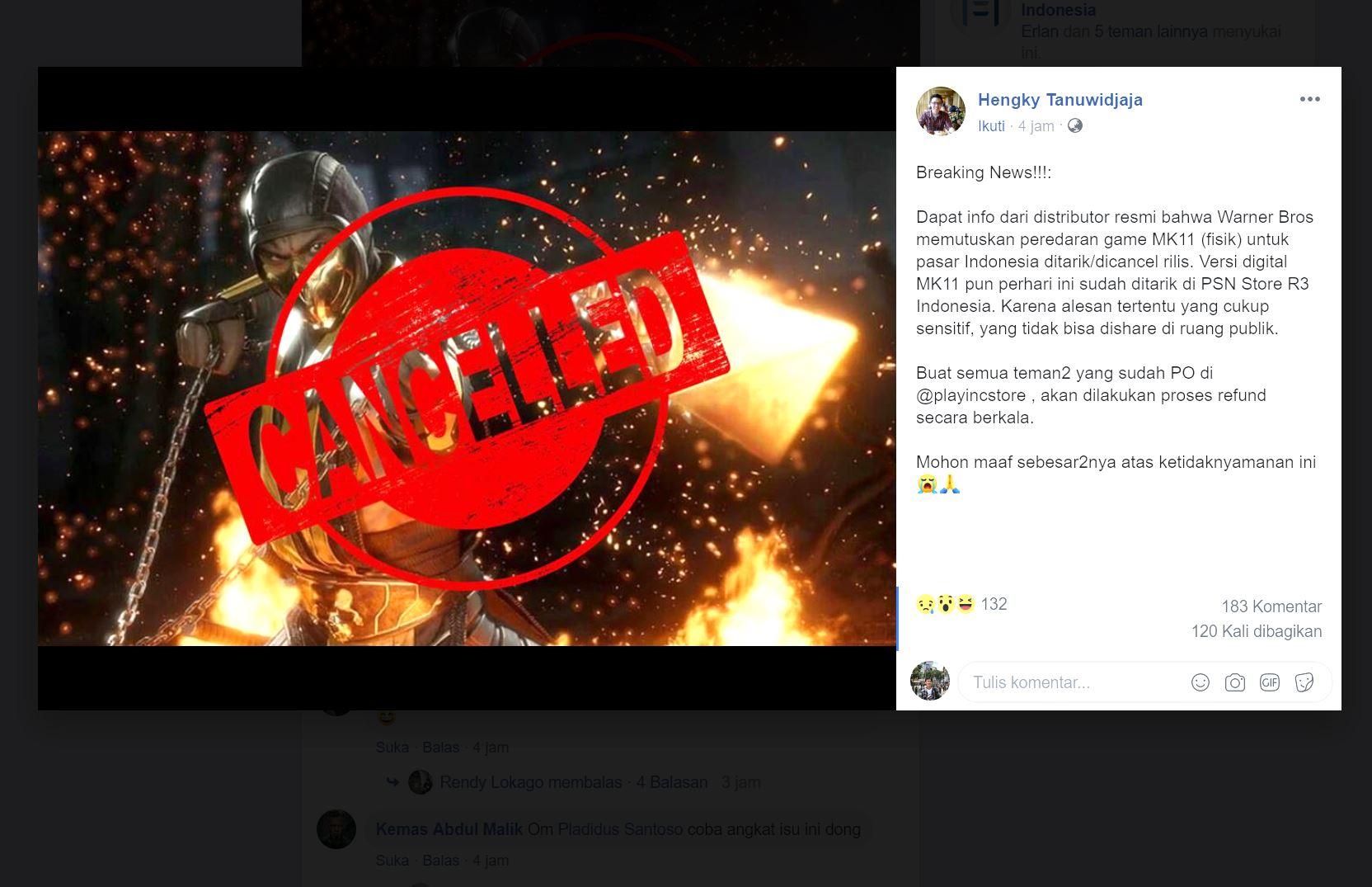 Ada Simbol Komunis, Mortal Kombat 11 Batal Rilis di Indonesia?