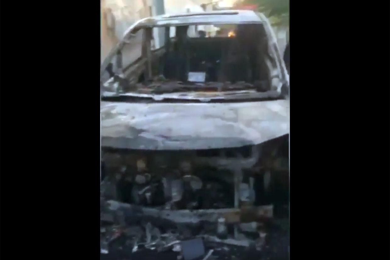 Mobil Via Vallen Dibakar Orang Tak Dikenal