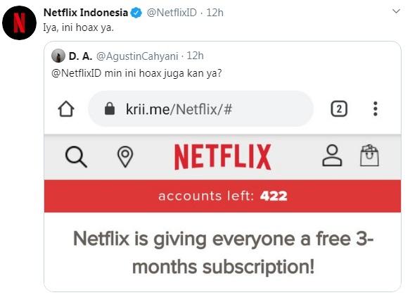 [Cek Fakta] Dukung #DiRumahAja, Netflix Kasih Layanan Gratis Tiga Bulan? Ini Faktanya