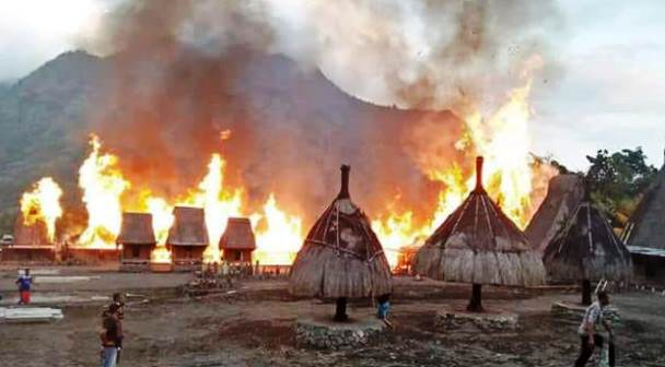 Rumah Adat Ngada di TMII Kini Tahan Api