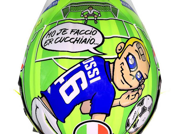 Ini Makna Motif Helm Valentino Rossi Di Mugello