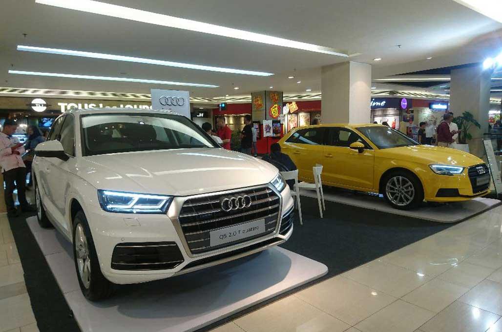 Audi 'Jemput Bola' di Pusat Perbelanjaan
