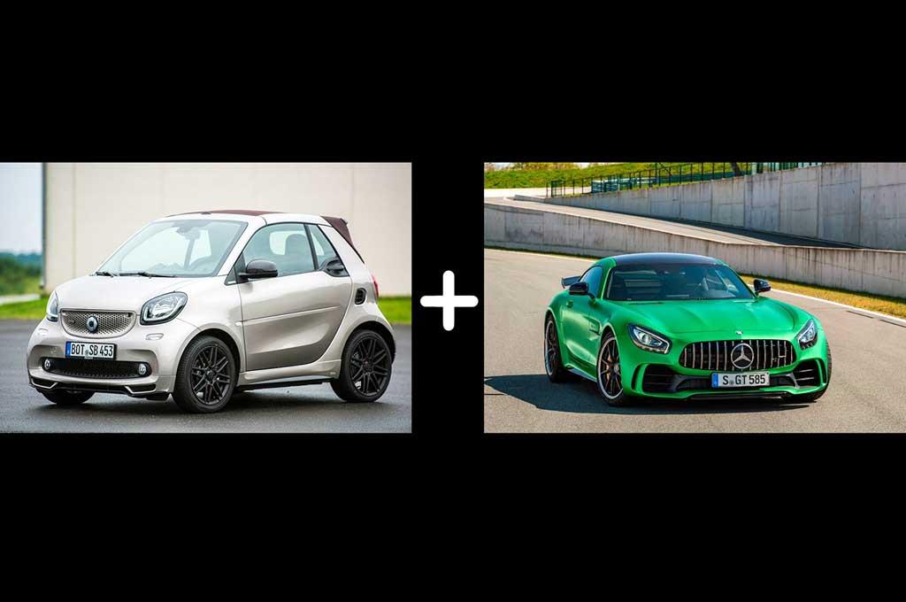 Smart ForTwo Pinjam Warna Mercedes-AMG GT R