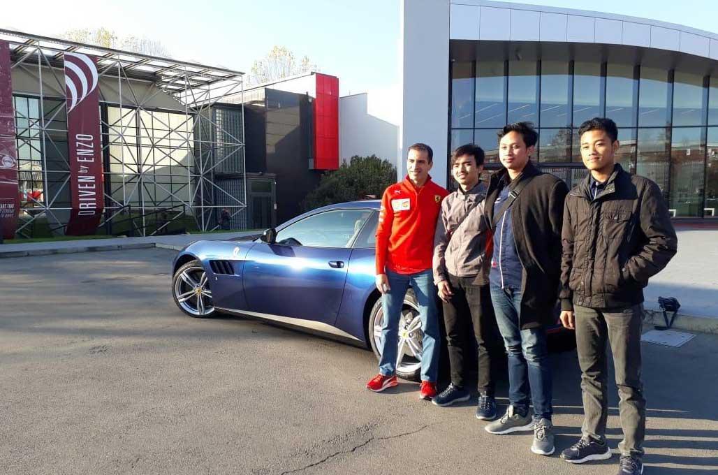 Menangi SEM 2018, Mahasiswa ITS Diundang ke Markas Ferrari