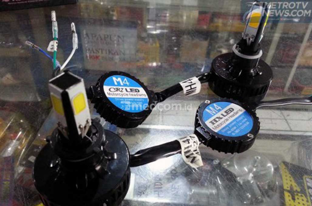 Pasang Lampu LED di Motor, Tak Perlu Ganti Kiprok