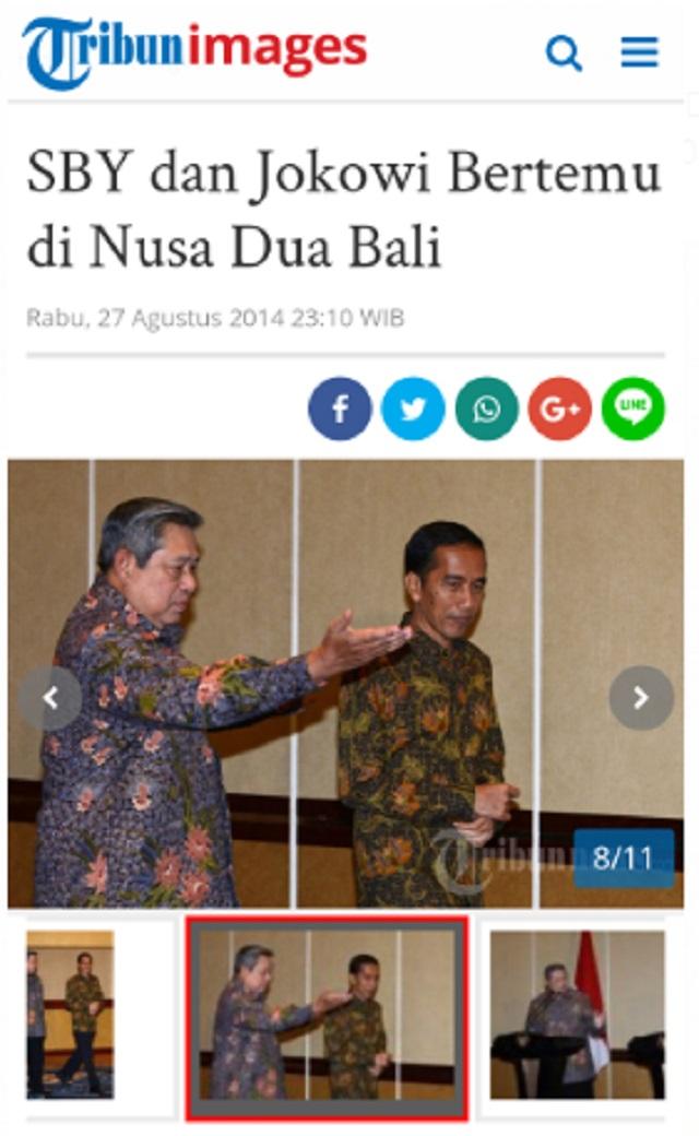 [Cek Fakta] Presiden Jokowi Pamit ke SBY Pulang ke Solo? Ini Faktanya