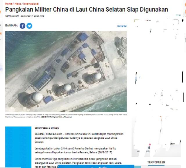 Tiongkok Telah Membangun Pangkalan Militer dengan Persenjataan Mengerikan di Natuna? Simak Faktanya