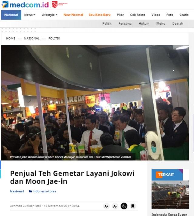 [Cek Fakta] Foto Presiden Jokowi Minum dari Gelas Merek Pemutih Pakaian? Ini Faktanya