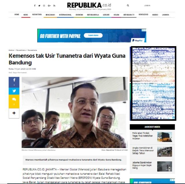[Cek Fakta] Tunanetra Diusir dan Ditelantarkan di Bandung? Ini Faktanya