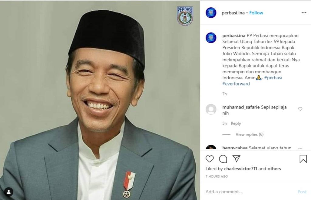 Ucapan Selamat dari Dunia Olahraga untuk Presiden Joko Widodo