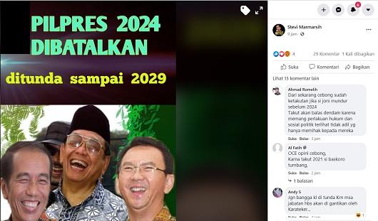 [Cek Fakta] Pilpres 2024 Dibatalkan Ditunda Sampai 2029? Ini Faktanya