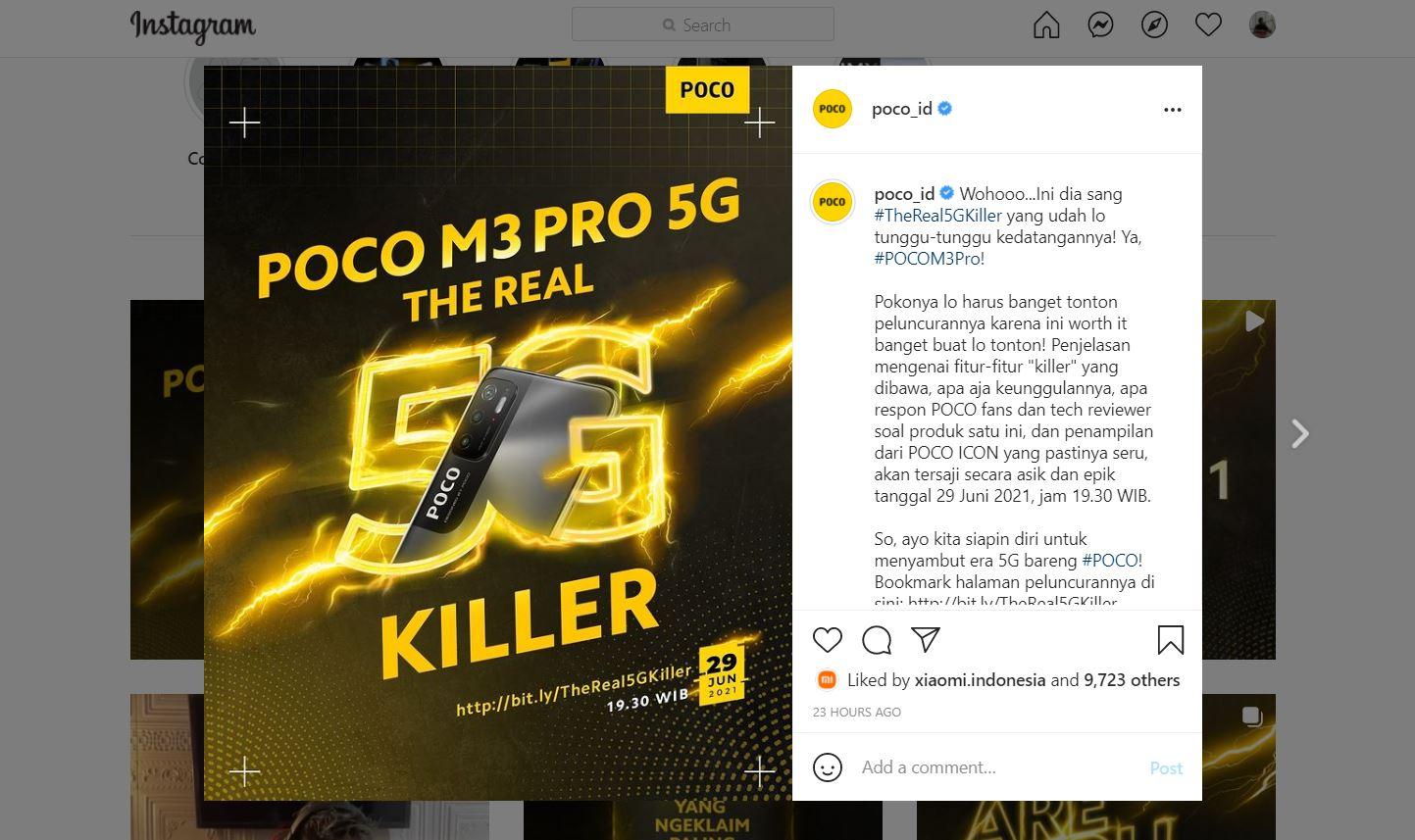 29 Juni, Poco M3 Pro Versi 5G Meluncur di Indonesia