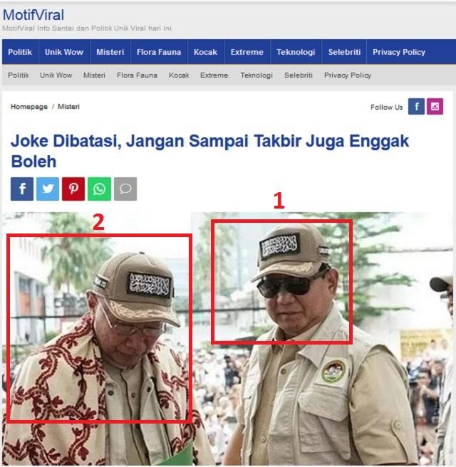 [Cek Fakta] Prabowo Sebut yang Tidak Suka Kalimat Tauhid Hadapi Saya, Benarkah?