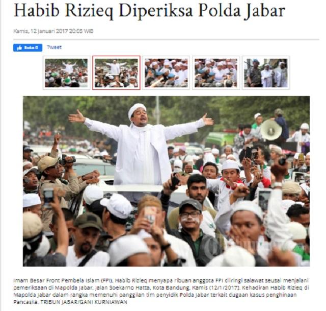 [Cek Fakta] Foto Habib Rizieq Promosikan Bentuk Salib? Ini Faktanya