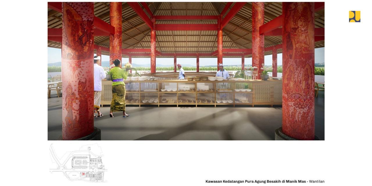Desain Gedung Parkir di Kawasan Pura Besakih Bali