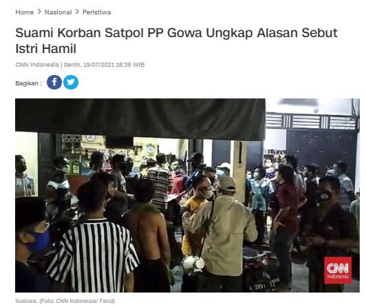 [Cek Fakta] Ternyata Wanita Korban Pemukulan Satpol PP di Gowa tidak Hamil