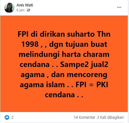 [Cek Fakta] FPI Didirikan oleh Soeharto untuk Melindungi Hartanya? Ini Faktanya