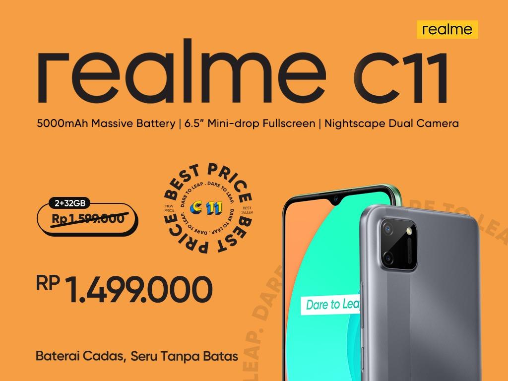realme C11 Potong Harga, Desain Premium dan Baterai Jumbo