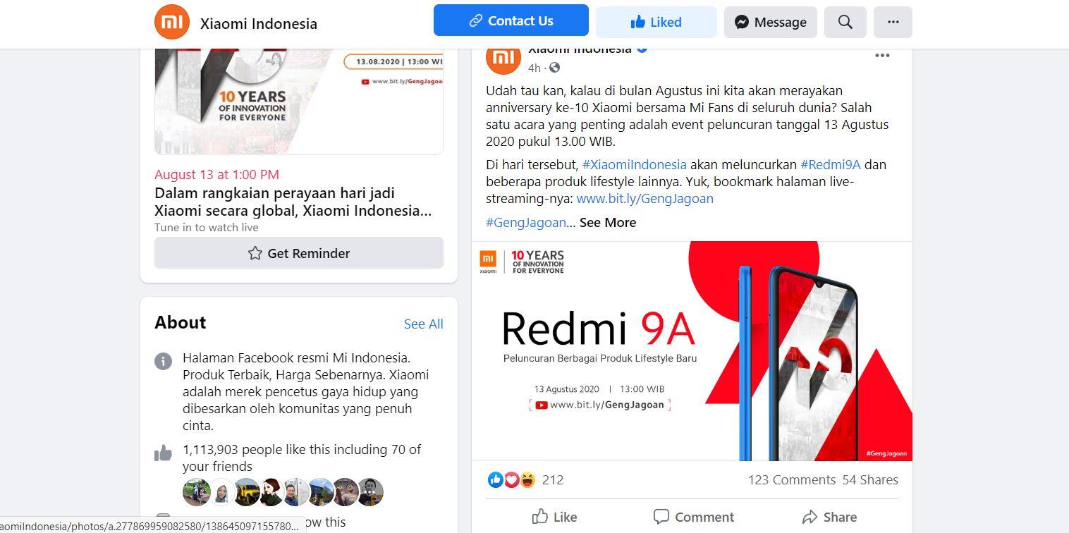 13 Agustus, Xiaomi Bawa Redmi 9A ke Indonesia