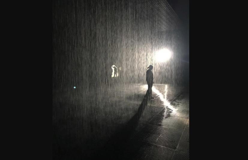 Rain Room, Paviliun yang Dirancang Antihujan
