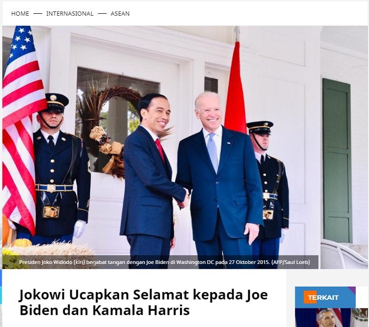 [Cek Fakta] Jokowi Telepon Joe Biden Beri Saran dan Ucapan Selamat? Ini Faktanya