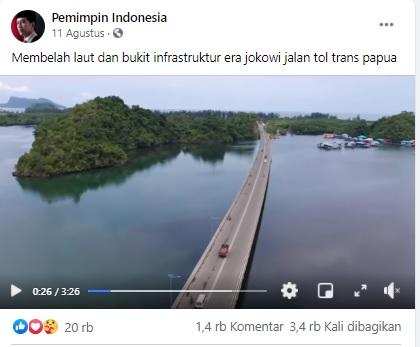 [Cek Fakta[ Video Penampakan Jalan Tol Trans Papua? Ini Faktanya