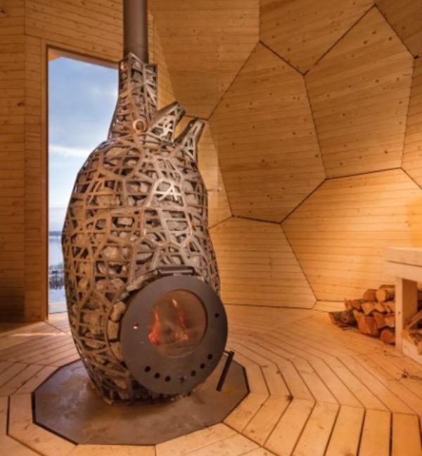Tampil Beda, Sauna Ini Berbentuk Telur Emas Raksasa