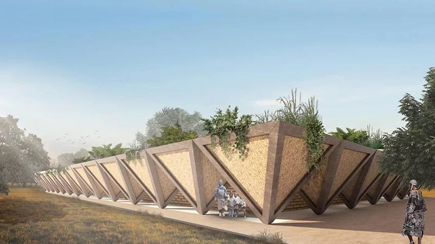 Desain Sekolah yang Kental Tradisi Lokal Afrika