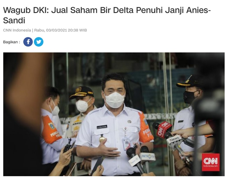 [Cek Fakta] Anies Legalkan Miras di Jakarta? Ini Faktanya