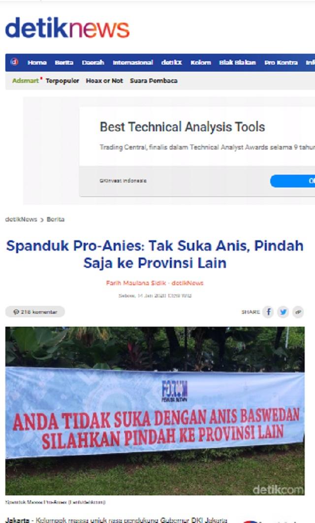 [Cek Fakta] Viral Spanduk 'Kalau Tidak Suka Jokowi Silakan Hengkang dari Indonesia'? Ini Faktanya