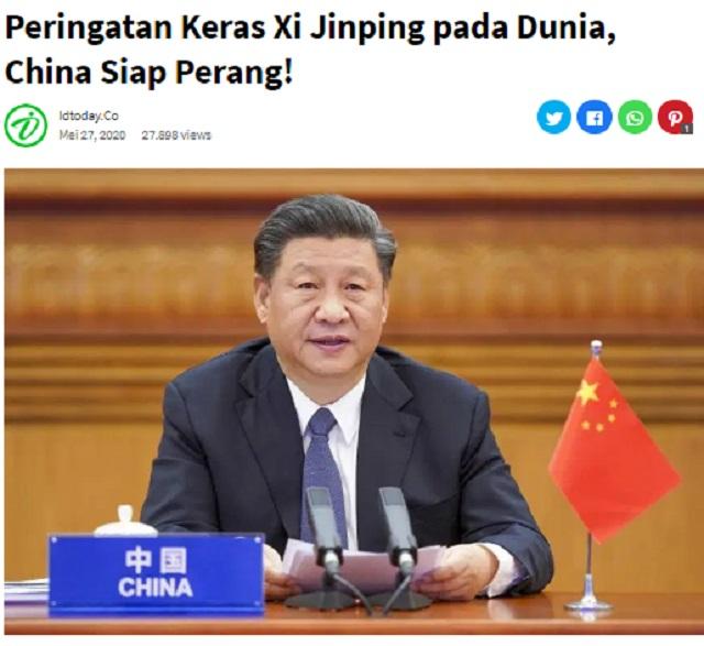 [Cek Fakta] Pemerintah Tiongkok akan Kirim 250 Juta Tentara Merah ke Indonesia? Ini Faktanya