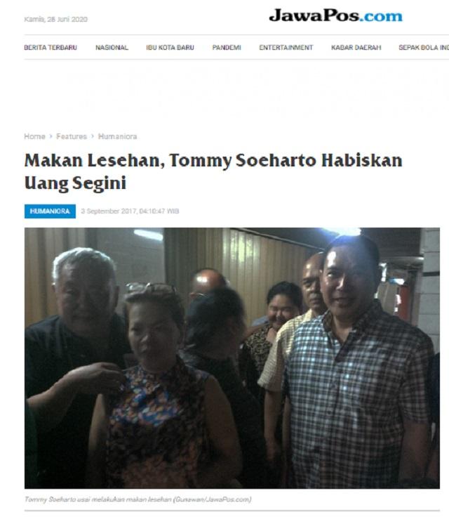 [Cek Fakta] Foto Penampakan Tommy Soeharto Biang Kerok Demo 212? Ini Faktanya