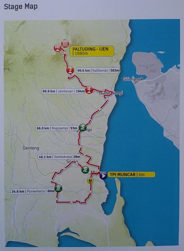 Mengenal Empat Etape di Tour de Banyuwangi-Ijen 2017