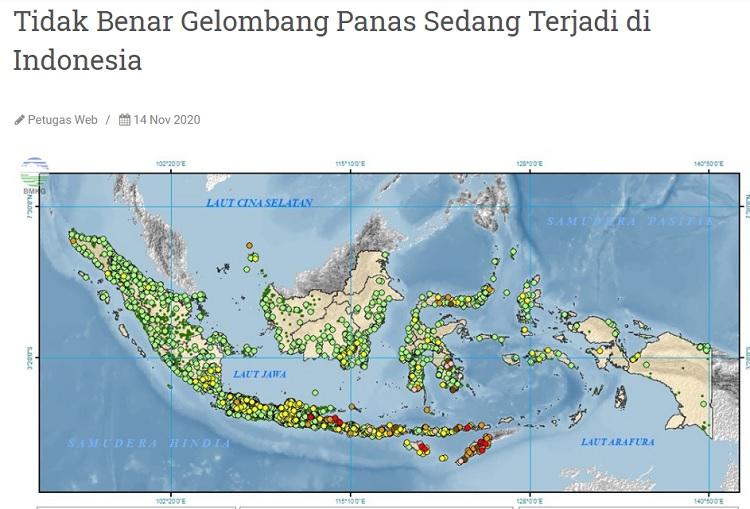 [Cek Fakta] gelombang Panas Serang Indonesia? Ini Faktanya