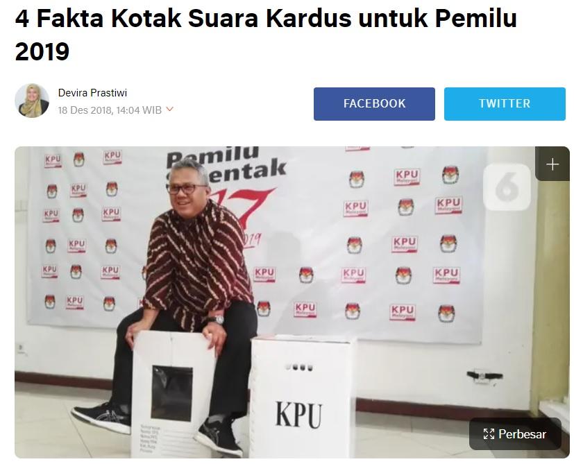 [Cek Fakta] Ketua KPU Arief Budiman Menuju AS Bantu Donald Trump? Ini Faktanya