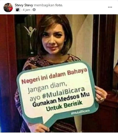 [Cek Fakta] Najwa Shihab Ajak Masyarakat Berisik di Medsos? Ini Faktanya