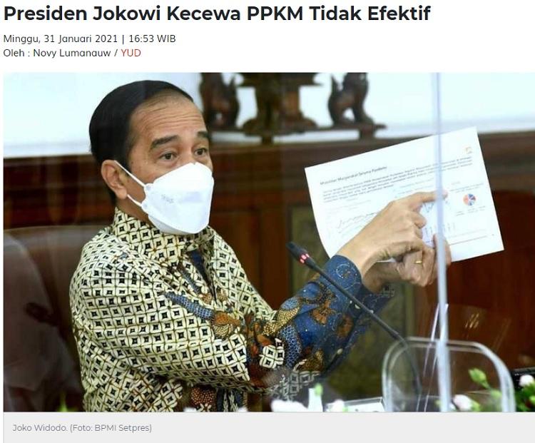 [Cek Fakta] Jokowi Sebut PPKM Buat Ekonomi Masyarakat Naik? Ini Faktanya