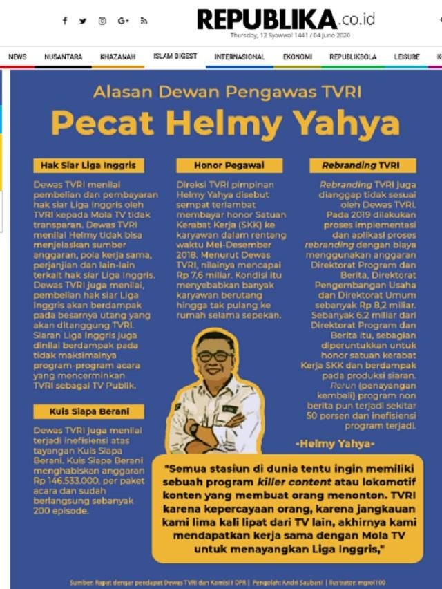 [Cek Fakta] Helmy Yahya Dipecat dari TVRI karena Siarkan Film G30S/PKI? Ini Faktanya