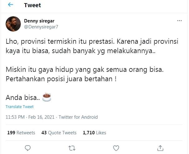 Sohib Abu Janda, Denny Siregar, Buat Warga Aceh Naik Pitam